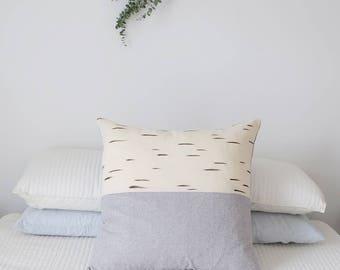 "Organic Cotton + Hemp (Like Linen) Euro Sham Pillow Cover // Meditation // Floor Cushion // Hand Painted // 26"" Square // KOIVU"