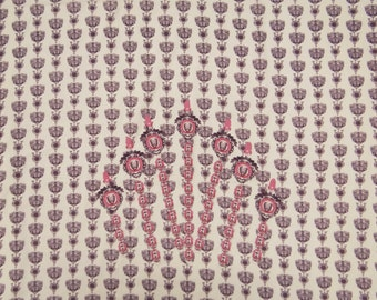 """Ethnic Fabric, Abstract Print, Beige Fabric, Dress Fabric, Home Decor Cotton Fabric, Sewing Craft, 42"""" Inch Fabric By The Yard ZBC5930"""