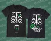 St. Patricks  Couple's T-shirts - non maternity option