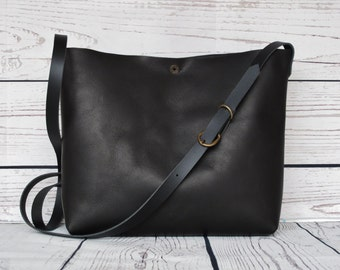 Small crossbody bag, real leather, crossbody, cross body, shoulder bag, leather purse, black leather,