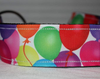 "1.5"" Bright Birthday Balloon Collar with Side Release Buckle (D-Ring Martingale Option Available)"