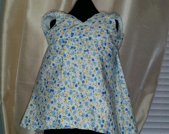 Dress for 18 inch doll such as American Girl Dolls. Double layer, snap closures! Floral print.