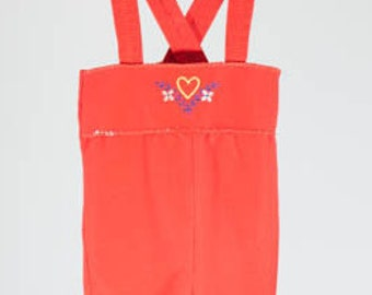 Vintage Red Overalls