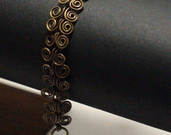 "Bracelet ""volutes"" terni yellow brass"
