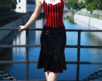 60s Latex Skirt Basic