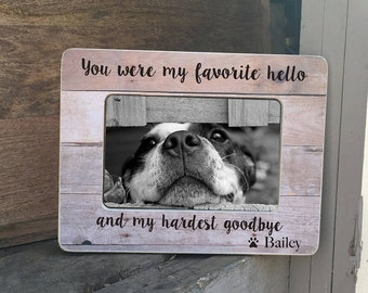 ON SALE Pet Loss Frame Gift Dog Loss Cat Loss  Frame Dog Sympathy Cat Sympathy Pet Loss Death of dog Personalized Picture Frame