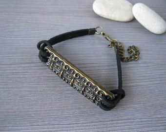 Antique bracelet birthday gift|for|brother sister gift black bracelet Friend gift ideas for husband Unisex bracelet Gift|for|son in law gift