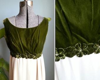 vintage sleeveless empire waist formal dress