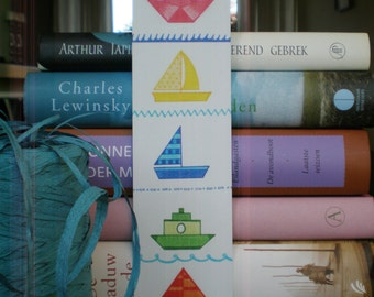 Bookmark Boats - Bookmark Recycled Paper.