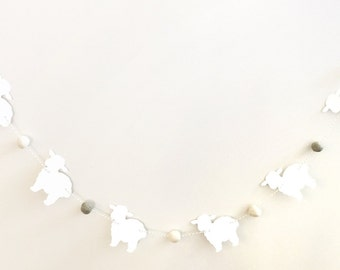 Lamb Baby Shower, Lamb Garland, Baby Lamb Banner, Sheep Banner, Mary Had a Little Lamb Party, Little Bo Peep Party