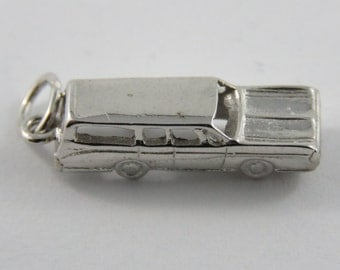 Station Wagon Sterling Silver Charm or Pendant.