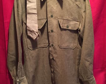 WW2 U.S Army Wool Shirt W/Tie