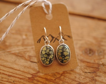 New Lander Turquoise Dangle Earrings | Sterling Silver