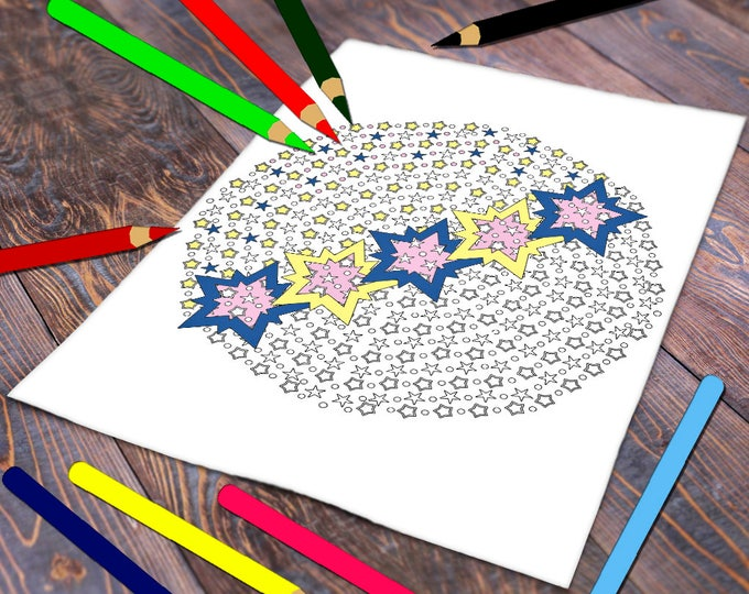 Mini Coloring Page, Mini Coloring Sheet, Mini Coloring Print, Mini Coloring Adults, Coloring Mini For Adults, Mini Colouring