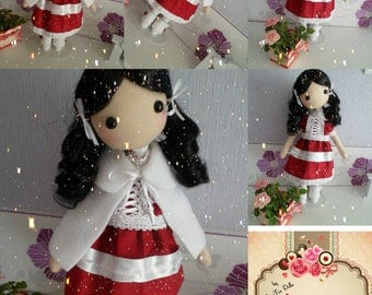 rag doll Paulinchen ca 35cm big 100% Handmade