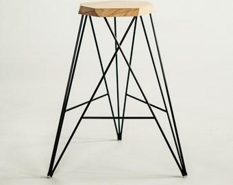 Handmade Geometric Bar Stool