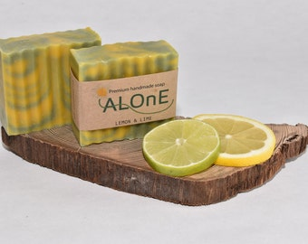 Lemon & Lime Soap -  Vegan and Handmade