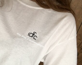 IDFC Aesthetically Embroidered White T-Shirt