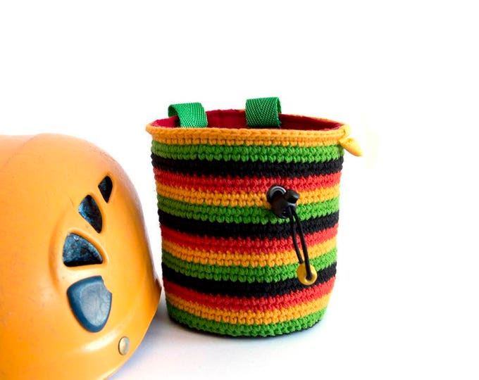 Bouldering And Boulder Gear, Bouldering Chalk Bucket, Bouldering Accessories - Chalk Bag. M Size.