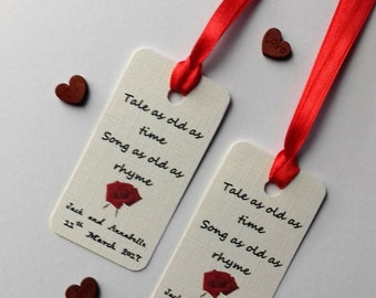 Beauty and the Beast wedding, Beauty and the beast tags, A tale as old as time tags, Disney wedding tags.