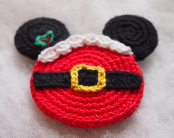 Christmas Ornament Mickey Mouse Minnie Mouse crochet pattern, The Santa Claus, Christmas decoration