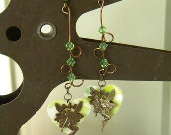 Green Fairy, Absinthe Inspired Earrings