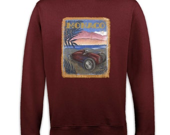 Monaco Racing Poster (Distressed) sweatshirt