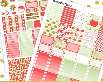 50%0ff APPLES Printable Planner Stickers | Instant Download | Pdf and Jpg Format