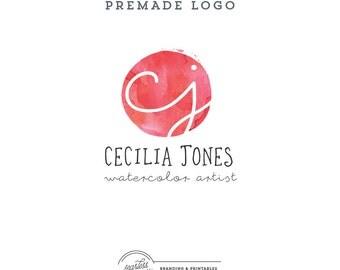Watercolor Logo design Premade, Business Logo, Logo Design, Watercolor Logo, Feminine Branding, Premade Logo Design, Logo and watermark