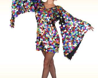 Diva Sequin Dress - Show Queen - Cabaret dress, diva dress, wing dress, sequin dress, drag queen dress