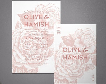Olive Invitation Set - 100 Printed pieces