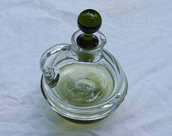 Glass Cruet Bowl Green Glass