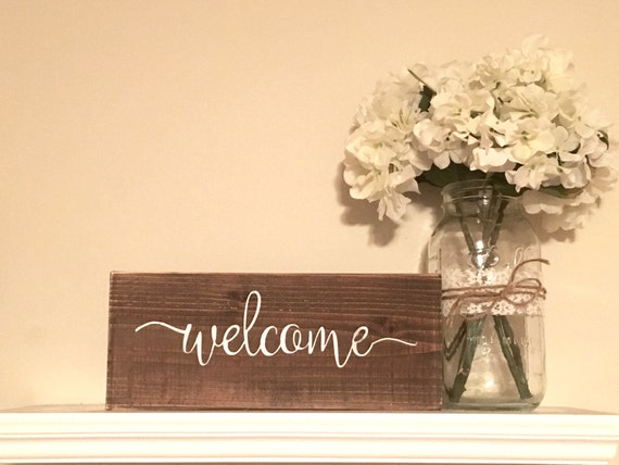 Welcome Sign Wooden welcome sign rustic wall decor gallery