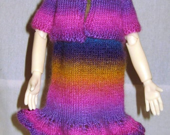 SALE Hand knitted outfit for Kaye Wiggs MSD