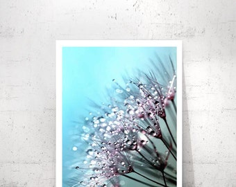 Dandelion Wall Art, Wall Print Dandelion, Above the Bed Decor, Extra Large Wall Art, Wedding Gift, Dandelion Prints, Dandelion Flower Print