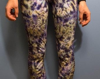 Crochet Trimmed Tie-Dye Leggings