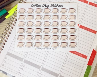 Coffee Mug Planner Stickers