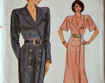 Uncut 1980s Vogue Vintage Sewing Pattern 9803, Size 20-22-24; Misses' Dress