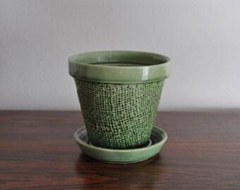 Green Shawnee Planter Pot