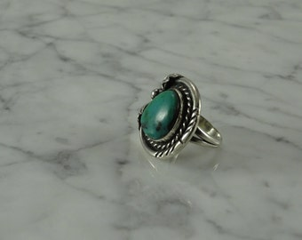 Native American / Turquoise / Sterling Silver Ring ( Size 6.25)
