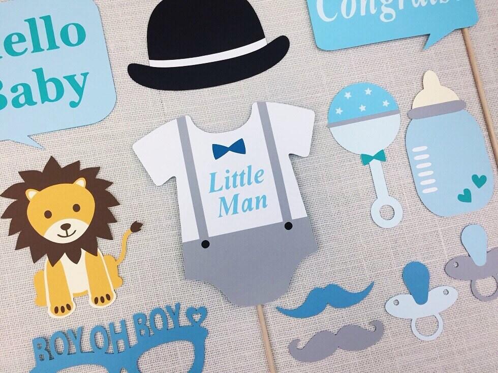 little man shower   etsy, Baby shower invitations