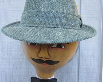 Men's Vintage Wool Tweed Hat