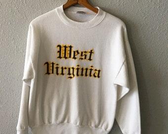 Vintage West Virginia 1980's Mountaineers West Virginia Sweatshirt