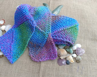 Wool Blend Handmade Knit Scarf