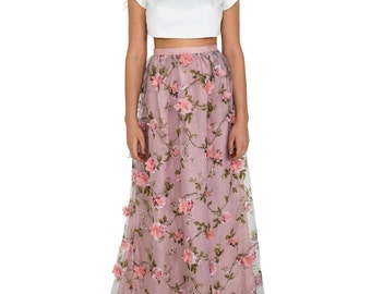 Crop and Floral Skirt