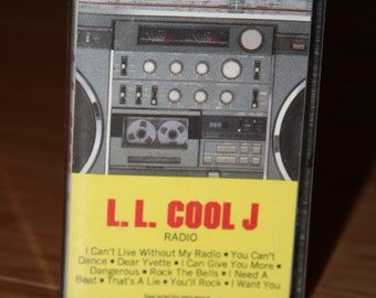 LLCOOLJ Radio Vintage Old School Cassette Boombox Ghetto Blaster Tape LL Cool J