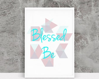 Blessed Be Pagan Home Decor Printable Occult Home Decor Pagan Print Witch Print Occult Print Wiccan Home Decor Witch Home Decor