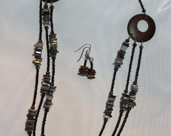 Handmade black and brown Jewelry set