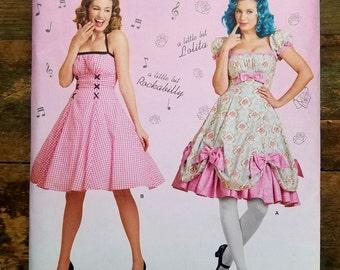 Ladies Rockabilly / Pinup Girl Dress Pattern - M-XL