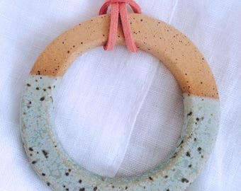 223. The Lunar Witch ceramic necklace.